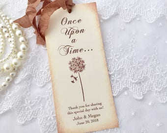 Fairytale Favors, Dandelion Bookmarks, Once Upon a Time Bookmarks, Set of 10