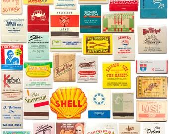 Matchbooks, cardboard matches, match books, retro modern, mid century modern, ephemera, 1950s 1960s, bar decor, man cave, housewarming