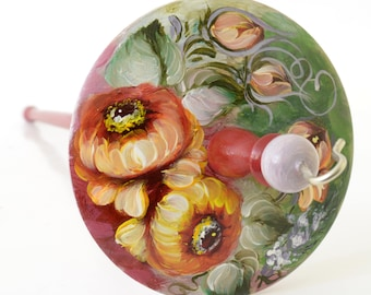Drop Spindle - Painted Russian Style Spindle- Top Whorl - 31g/1.3oz