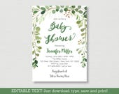 Rustic Green Floral Baby ...