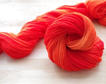 Hand dyed Sock Yarn - Fingering weight - approx. 400 yds
