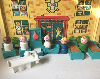 Vintage Fisher Price Children's Hospital Little People Playset 931