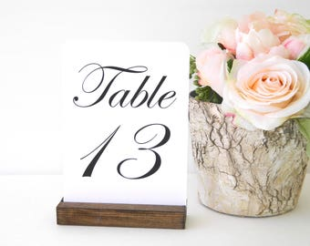 Table Number Holders + Rustic Table Number Holder - (Set of 20) ON SALE