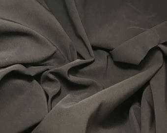"Raisin Brown Faille Stretch Suiting Fabric 54"" -By The Yard-"