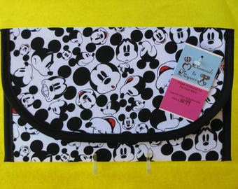 The Many Faces of Mickey Mouse Diaper and Wipes Case Holder Clutch