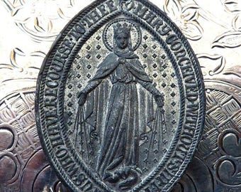CLEARANCE SALE Silver Saint Joseph Religious Medal Protector Of Fathers, Carpenters, Workers & Craftsmen, Miraculous Medal Of Blessed Virgin