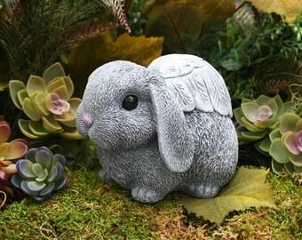 Lop Bunny Angel Statue - Bunny Rabbit Angels - Lop Eared Rabbit Pet Memorial Statue