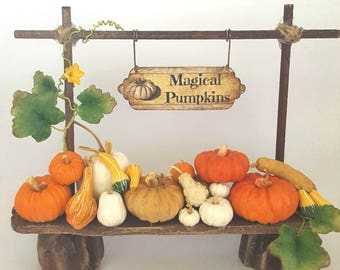 1/12TH scale - stand with magical pumpkins gourds and squashes