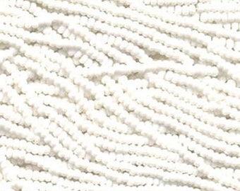 ON SALE 8/0 Chalk White Opaque Genuine Czech Glass Preciosa Rocaille Seed Beads 38 grams