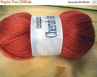 ON SALE Incredibly Soft Geranium Cascade Cherub Aran Yarn 240 yards Acrylic Nylon Blend Color 19