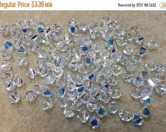ON SALE Crystal AB 5328 Bicone Swarovski Crystal Beads 4mm
