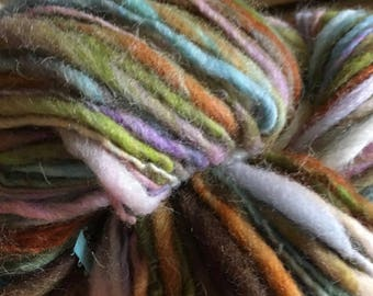 Lake Sunset Single Ply Hand-spun Cheviot Wool Yarn 184 yards