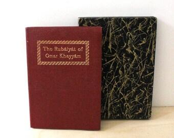 The Rubaiyat of Omar Khayyam. Vintage book with protective cover.