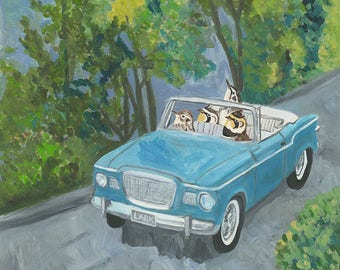 Double date. Limited edition print of an original oil painting by Vivienne Strauss.