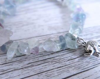 Fluorite Bracelet Fluorite Gemstone Bracelet Fluorite Crystal Chip Bracelet Choose Your Own Charm Bracelet Design Your Bracelet