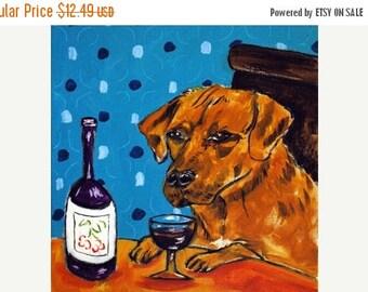 20 % off storewide Rhodesian Ridgeback at the Wine Bar Dog Art Tile Coaster Gift