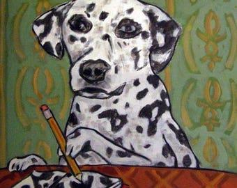 20% off Dalmatian Artist Animal Dog Art Tile Coaster Gift