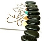 Beach Stones BLACK TEARS Pebbles Genuine Drilled River Rock Charms Jewelry Organic Nature Finds Authentic Stones DIY Beads