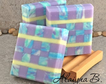 Mosaic Soap Scented in an Fresh Herbal Basil, Sage, Rosemary and Mint Fragrance