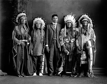 American Indian Group 1930 Photo