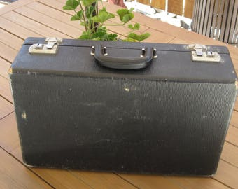 Vintage Small Black Suitcase Luggage Travel Storage Display