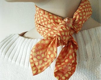 Scarf Orange and Yellow Print
