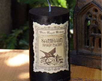 Spirit Night Witches Samhain Candle . Halloween, Witches New Year