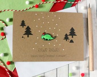 Christmas Cards. Handmade Christmas Card. Xmas Card. Holiday Card. Christmas Card. Dinosaur. Christmas Dinosaur. Dinosaur Card. Holiday Dino
