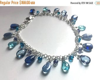 XMAS IN JULY 20% off, Blue Is Your Color Bracelet