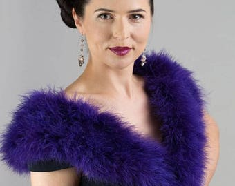 Promo Sale: Versatile Evening Marabou Wrap - Collar - Shrug (22 colors available)