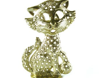 1970s Vintage Kitty Cat Earring Tree or Earring Stand / Jewelry Storage / Torino / Cat Earring Holder / Cat Lover / Crazy Cat Lady