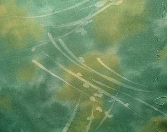 Kimono Silk Green/Yellow Abstract