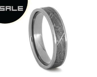 SALE - Meteorite Ring, Men's Meteorite Ring, Men's Meteorite Wedding Band, Women's Meteorite Ring, Women's Meteorite