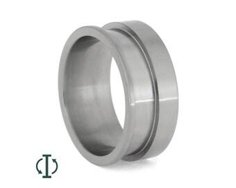 Interchangeable Titanium Ring, Adjustable Core For Interchangeable Rings, Custom Titanium Wedding Band