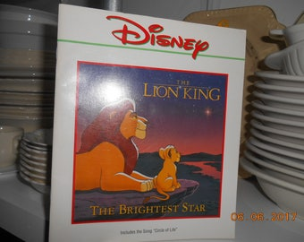 1994 Disney The Lion King The Brightest Star book no cd with it