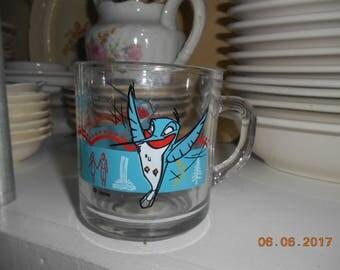 Vintage Disney Pocahontas Glass Mug