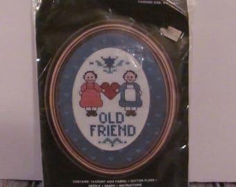 "Regency Mats ""Old Friend"" Counted Cross Stitch Kit"