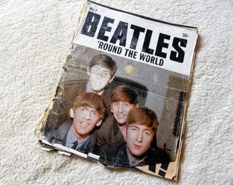 Beatles Memorabilia - Beatles Around the World - 1964 - Vintage Magazines