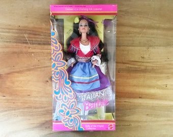 vintage Italian Barbie Doll 1992 Dolls of the World Collection New In Box