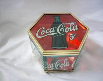 Vintage Coca Cola Trinket/Jewelry Box