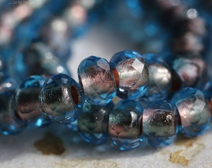 WINDY No. 2 .. NEW 10 Premium Czech Glass Large Hole Roller Beads 6x9mm (5928-10)