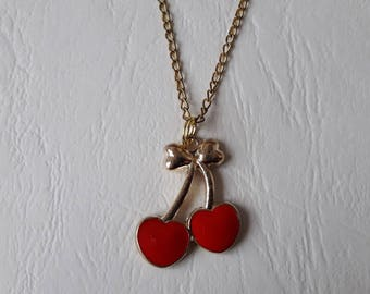 Pendant ♥ cherries and a bow ♥ ♥