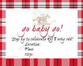Go Baby Go Invite, 4x6, K...