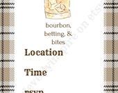 Bourbon Invitation, 5x7 ,...