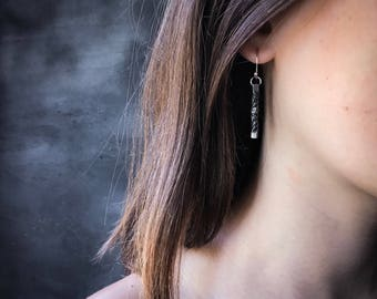 6th anniversary gift -Steel twist earrings - 11th anniversary gift - hand forged jewelry - iron anniversary -  iron anniversary gift -
