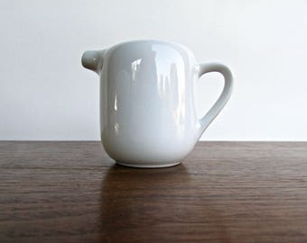 Vintage Modern Porcelain Creamer Jug in the Style of Arabia of Finland, modern and functional everyday porcelain