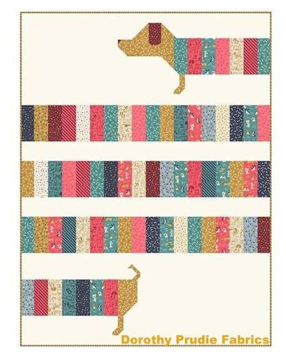 Pattern Doxie Dog Dachshund Weenie Dog All Wrapped Up