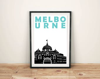 Melbourne Print // Australia Poster // Melbourne Art // Melbourne Poster // Australian Art // Australian Gift // Housewarming Gift