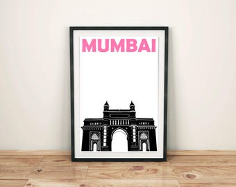Mumbai Print // Indian Art Poster // Mumbai Poster // Indian Gift // Indian Print // Mumbai Art / India Print / Indian Poster / Gift for Mum