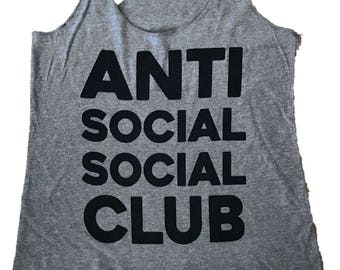 Antisocial Social Club Tank Top - Tri-Blend Tank - (Available in sizes S, M, L)